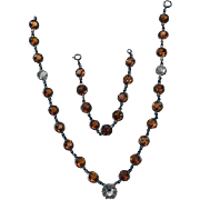 Art Deco Sterling Crystal Convertible Necklace/Bracelet