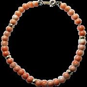 Vintage 14K & Coral Bracelet