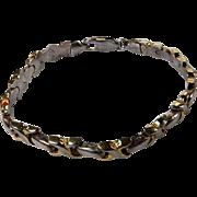 Vintage Sterling X O Bracelet Milor Italy