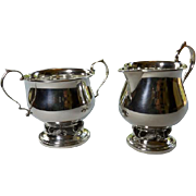 Sterling Creamer & Sugar Jensen Style by Revere Silversmiths Inc.