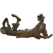 Lladro Reclining Clown with Ball - #4618