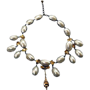 Spectacular French Edwardian Mother of Pearl Necklace