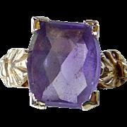 Vintage 10K YG Amethyst Ring