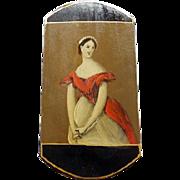 Antique Papier Mache Cigar Case Circa 1830