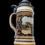 Mettlach #1863 Beer Stein Villeroy & Bach Stuttgart