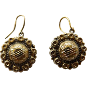 Mid Victorian Gold Filled Earrings