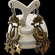 Victorian Gold Filled Dangle Earrings