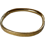 Child's Art Deco Gold Filled Bangle Bracelet