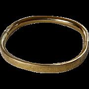 Child's Art Deco Gold Filled Bangle Bracelet