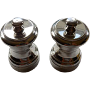Pair of Vintage Sterling Pepper Mills
