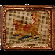 1850 Miniature Dog Needlepoint