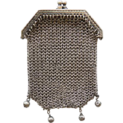 800+ Silver Mesh Doll or Chatelaine Purse