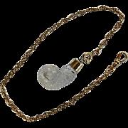 Victorian Cut Glass Cornucopia Fob On GF Watch Chain