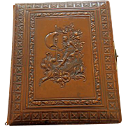 Victorian Embossed Leather Photo Album Loaded With Cabinet Cards & CDVS