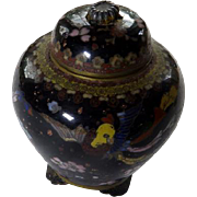 Japanese Cloisonne Covered Ginger Jar