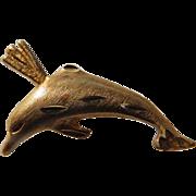 Vintage 14K YG Dolphin Charm