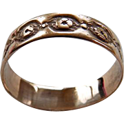 Victorian 10K YG Wedding Band Style Ring