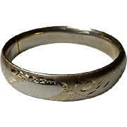 Vintage Gold Filled Hinged Bangle Bracelet
