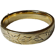 Vintage GF Hinged Bangle Bracelet