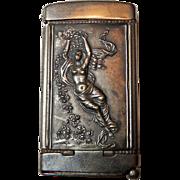 Art Nouveau Match Safe/Cigar Cutter With Nude