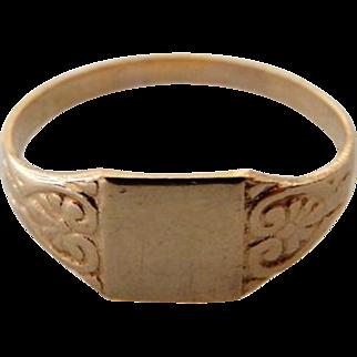 Vintage 14K YG Signet Ring