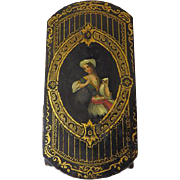 Antique Papier-Mache Cigar Case With Liner Circa 1830