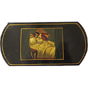 Antique Papier-Mache Cigar Case Circa 1830