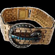 Signed Lampl GF Retro Buckle Bracelet