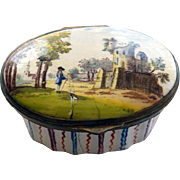 Battersea Enamel Box 18th Century
