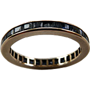 14K YG Sapphire Eternity Band Wedding Ring