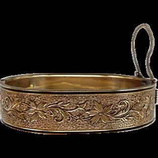 Victorian Hinged Bangle Bracelet With Enamel