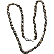 Vintage Sterling Diamond Link Chain Necklace 98 Grams 24""