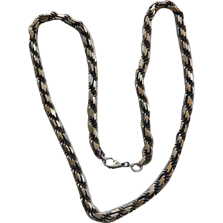 """Vintage Sterling Diamond Link Chain Necklace 98 Grams 24"""""""