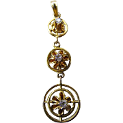 10K Gold & Stone Lavaliere