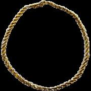 14K YG Twisted Rope Link Bracelet