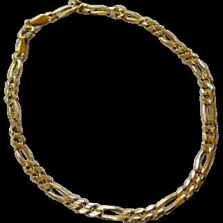 14K Italy Figaro Link Bracelet