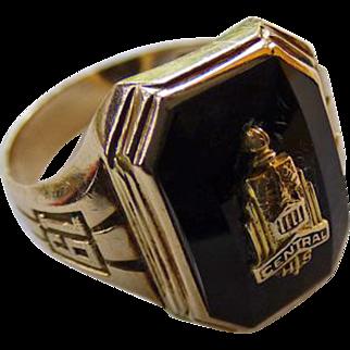 10K 1941 Central High School Detroit Class Ring