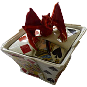Royal Bayreuth Devil & Cards Covered Box or Sugar