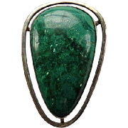 Modernist Israeli Sterling Eilat Stone Pendant/Pin