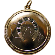 Edwardian GF Horseshoe Double Photo Locket