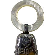 Mother of Pearl & Sterling Rattle & Teething Ring 1930