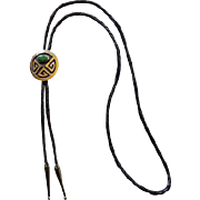 Southwestern Sterling & Turquoise Bolo Tie