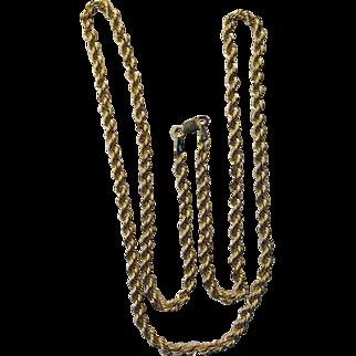 10 Karat Twisted Rope Chain 4.2 Grams