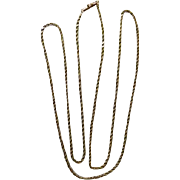 "14K Twisted Rope Chain 30""  8.2 Grams"