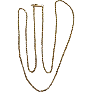 14 Karat Twisted Rope Chain 6.5 Grams 24""