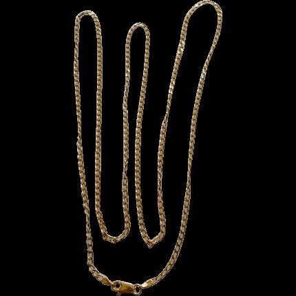 "14k Flat Link 30"" Chain 8.6 Grams Israel"