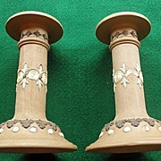 Wonderful Pair of Royal Doulton Candlesticks