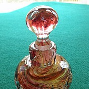 Vintage Art Glass Hand Blown Perfume or Cologne Bottle