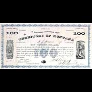 1868 Territory of Montana Bond