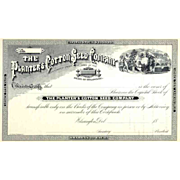 18__ Planters Cotton Seed Co Stock Certificate
